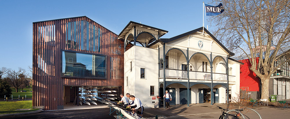 Melbourne University Boat Shed extension
