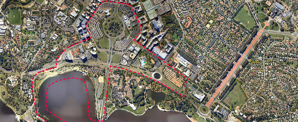 Linking Canberra City to the Lake