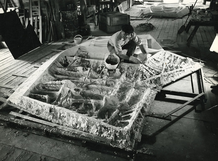 Tom Bass plaster casting