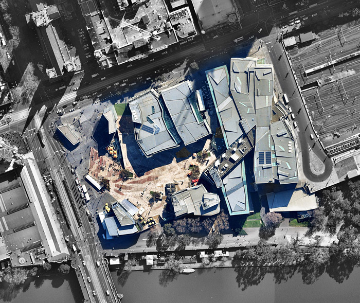 Federation Square from above