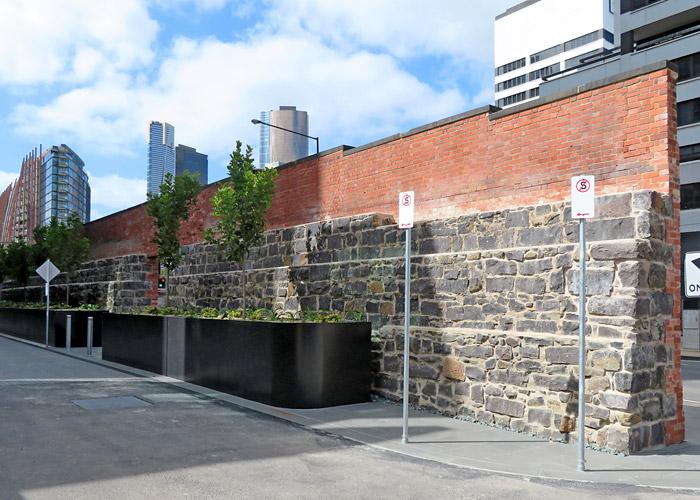 Flinders Street heritage wall